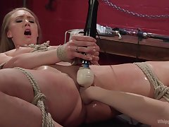 Lorelei Lee and her of a female lesbian friend playing with fingers and a vibrator