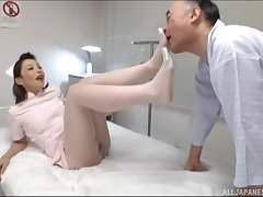 Japanese be attracted to gets fucked by hard patient's dick in the hospital