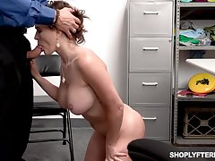 Krissy Lynn is having horny romp with a curious security dude, while no 1 is witnessing them