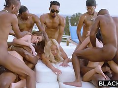 Teanna Trump, Adriana Chechik and Vicki Pursue are orgying not later than a vacation, beside dark-hued men