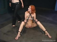 Bondage and spanking is a new experience for lesbian Marsha Lord