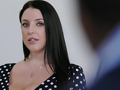 Beamy housewife nigh huge titties Angela White loves riding strong cock