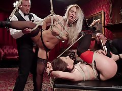 Extreme bondage and anal via a preposterous fetish play