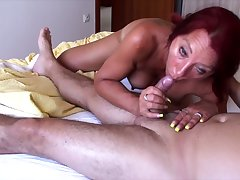 This redhead is a ravenous hooker with a faculty for dick riding