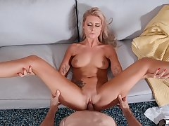 Exclusive hard copulation and defoliated POV for the hot blonde