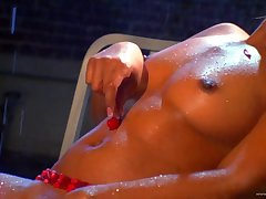 Elegant poofter cougar with big tits gets her pussy licked exhausted enough fingered waiting for orgasm