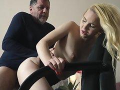 Teen on say no to knees sucking on grandpa blarney deepthroat