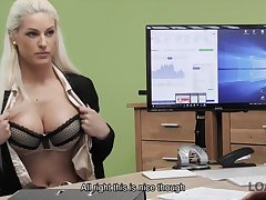 Busty bazaar Blanche gives herself to loan agent here office