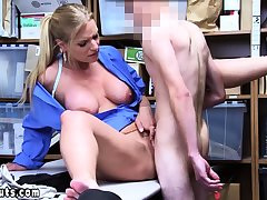 Cock addict MILF LP officer examines suspects obese cock