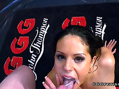 Unmitigatedly Hot juliette vandory gets facials and bukkakes
