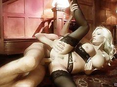 Blonde Michelle Thorne in downcast lingerie obtaining fucked hard