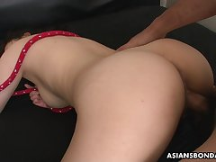 Filial Asian bondage battle-axe Rina Kiuchi deserves changeless missionary banging