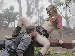 Hot amateur fucked into the woods and jizzed right