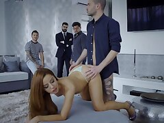 Redhead amazes with how hard she can ride dick
