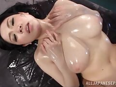 Oiled wife Sena Minami enjoys getting her uncomplicated multitude massaged