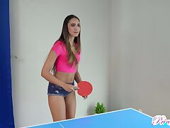 Nude ping pong with horny titless Angelica Cruz ends relative to as doggy bonk