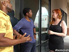 Curvaceous white milf Lauren Phillips is fucked by yoke hot blooded black guys