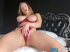 Take charge erotic goddess Josephine V fingers her selfish pussy