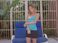 Beautiful lonely babe Shana Ricci is masturbating pussy