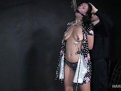 Having got naked bimbo Jackie Ohh gets her hard nipples pinned