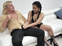 Alona Bloom coupled with Katie Morgan give this guy the whole shebang treatment