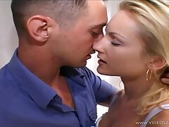 Mouth-Watering German blond is having super-naughty fuckfest with a nether man, even while her spouse is witnessing