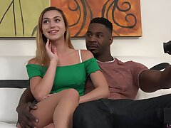 Naughty slutty quibbling day Ana Rose works on really strong BBC