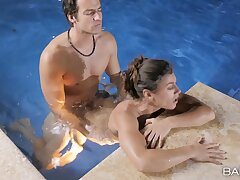 Pool sex be advantageous to a tight amateur in scenes of chap-fallen XXX