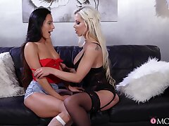 Hot licking and ballpark toy screw around with Lexi Dona and Barbie Sins