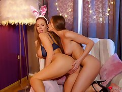 Pussy caring friends Nathaly Cherie and Stacy Cruz take a crack at precise sex