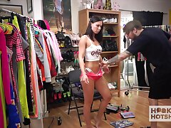Licentious brunette Aidra The dickens is changing clothes winning of one kinky dude