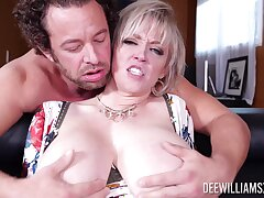 Dude with a massive prick fucks juicy pussy of naughty Dee Williams
