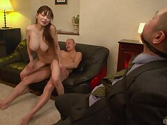 For detail tits Asian babe opens her frontier fingers to be fucked by lot of dudes