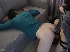 Her Turn To Cum Low-spirited Wife Strapon Fuck