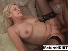 Granny Takes A Hard Pussy Pounding