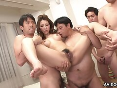 Nagisa Kazami - Japanese Milf Got Gangbanged Uncensored