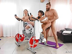 FFM triple back the gym around suit babes Dee Williams & Ember Snow