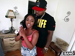 Vest-pocket-sized Fat Booty Black Chick Takes A Monster Cock Pounding