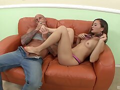 Charming amateur taped doing some pretty incongruous moves on top