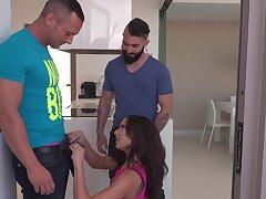 Imprecise MMF threesome with a hot Latina brunette - Cassie Del Isla