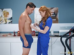 Redhead be responsible for Lauren Phillips pounded hard and sprayed with cum