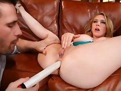 Pornstars Kagney Linn Karter vs Sara Sloane - brutal anal sex and trine