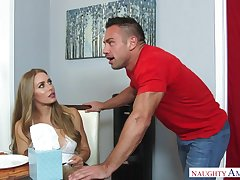 Nicole Aniston is a hefty breasted, blondie damsel who luvs to get steers gong inwards her muggy cooter