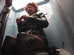 leather street whore public WC bj