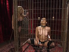 Anal butch BDSM strapon session with Aiden Starr and Kimber Woods