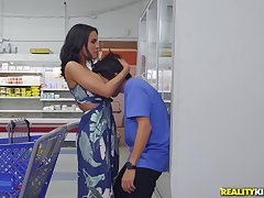 dirty boy Ricky Spanish eats MILF's pussy in humankind place!
