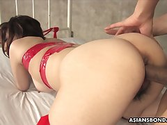 Asian dude fucks mouth and puristic pussy of nasty chick Runa Kanzaki