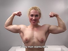 Lay bare Muscular Fitness Girl Within reach POV Casting